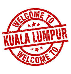 Welcome to kuala lumpur red stamp vector
