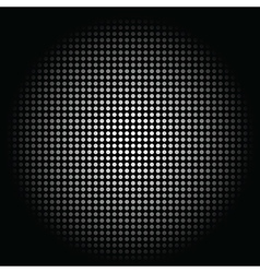 White circle sphere on black background vector image vector image