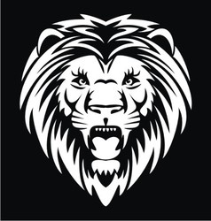 White lion head vector