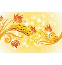 Abstract Yellow Halloween Background vector image