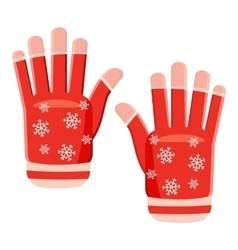 Winter gloves icon cartoon style vector