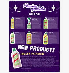 Cleaning products advertising banner vector