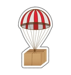 parachute simple icon image vector image