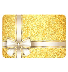 Golden gift card composed from gold gliiters and vector