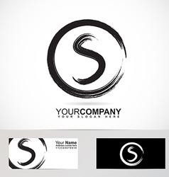 Grunge letter s circle logo vector