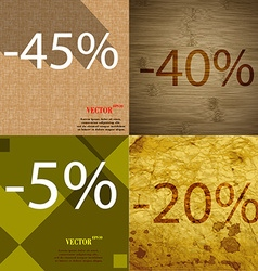 40 5 20 icon set of percent discount on abstract vector