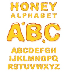 Honey alphabet letters vector