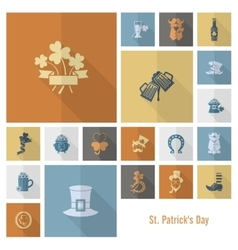 Saint patricks day icon set vector