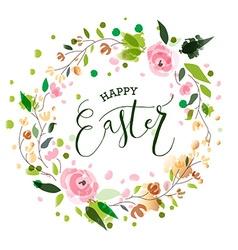 Easter postcard card invitation flyer banner vector image