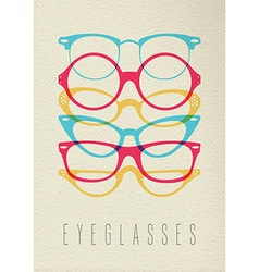 Fashion hipster glasses concept color design vector