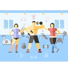 Bodybuilder narciss girls poster vector