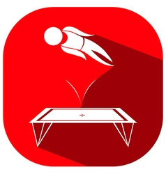 Sport icon design for gymnastics on trampoline vector