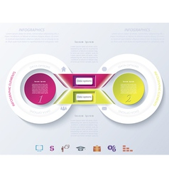 Abstract infographic design with color circles and vector image vector image