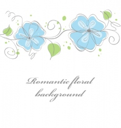 blue floral vector image vector image