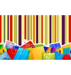 Colorful Shopping Bag vector image