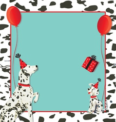 Dalmatian dog invitation vector image vector image