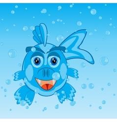 Fish in water vector