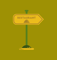 Flat icon on background restaurant sign vector