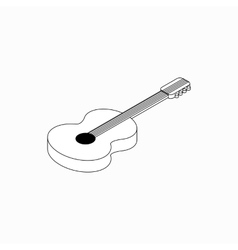 Guitar icon isometric 3d style vector image