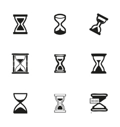hourglass icons set vector image