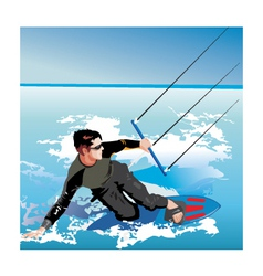kite boarding vector image vector image