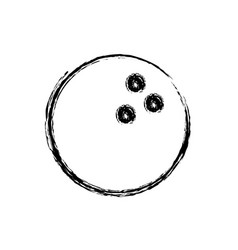monochrome sketch of bowling ball vector image