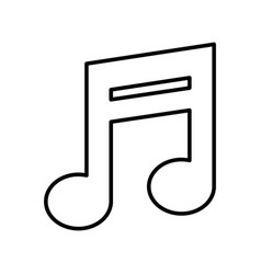 music note isolated icon vector image