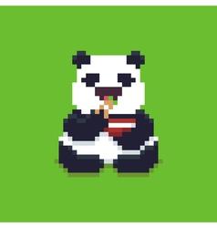 Pixel Art Panda vector image