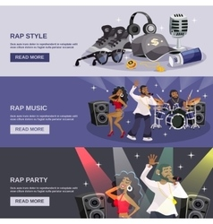 Rap music banner vector