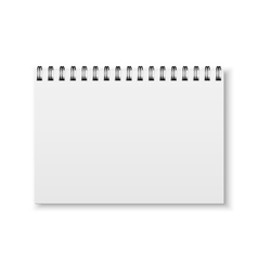 Realistic notebook vector image vector image