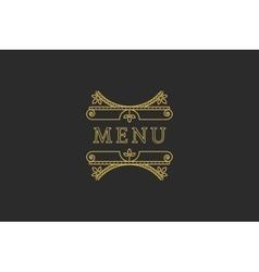 Restaurant Menu Headline vector image vector image