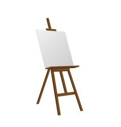 sienna art easel vector image