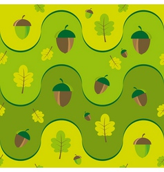 texture with leaves and acorns vector image vector image
