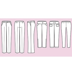 Trousers for woman vector