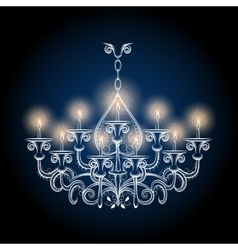 Antique gothic vintage chandelier vector