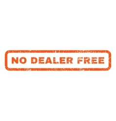 No dealer free rubber stamp vector