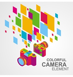 Photo camera colorful element background vector