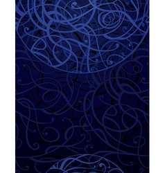 Dark blue abstract ornament background vector