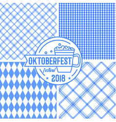 Bavarian blue pattern collection with geometric vector