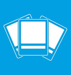 photos icon white vector image
