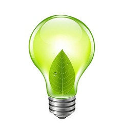 Eco green bulb vector