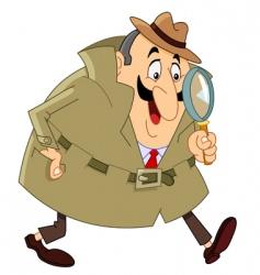 detective vector image