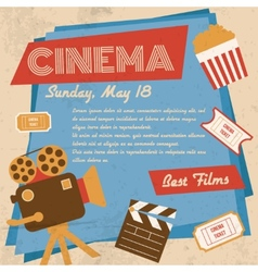 Retro cinema poster vector
