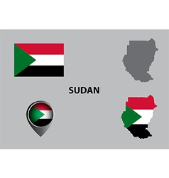 Map of sudan and symbol vector