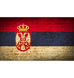 Flags serbia with dirty paper texture vector
