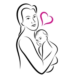 Holy union of mother and child love family vector