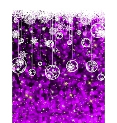 Christmas card cute misaic dot in purple EPS 8 vector image