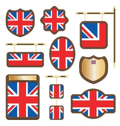 Uk plaques and signs vector