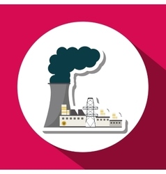 Graphic design of pollution vector