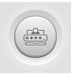 Password protection icon vector